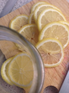 DIY honey lemon cough syrup