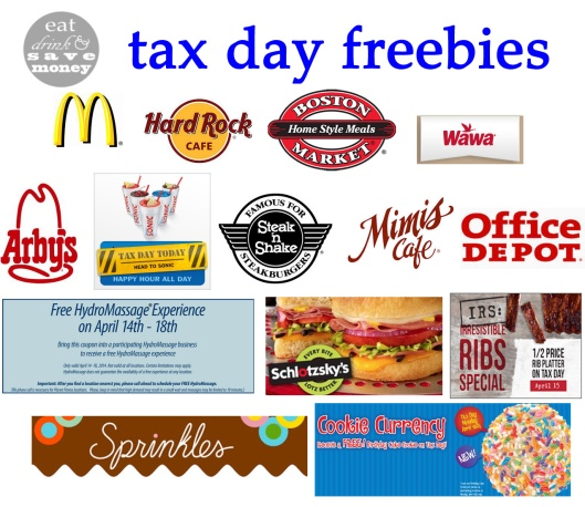 Tax Day 2014 Freebies