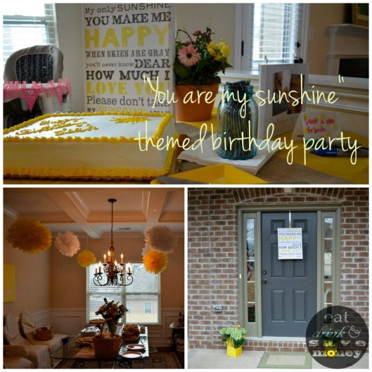 You are my sunshine themed birthday party | eat drink and save money blog